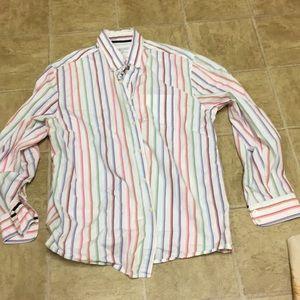 Madison vintage wash XL cotton sheeting shirt